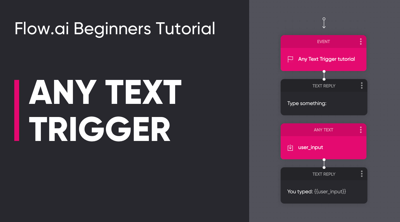 Any Text Trigger Tutorial