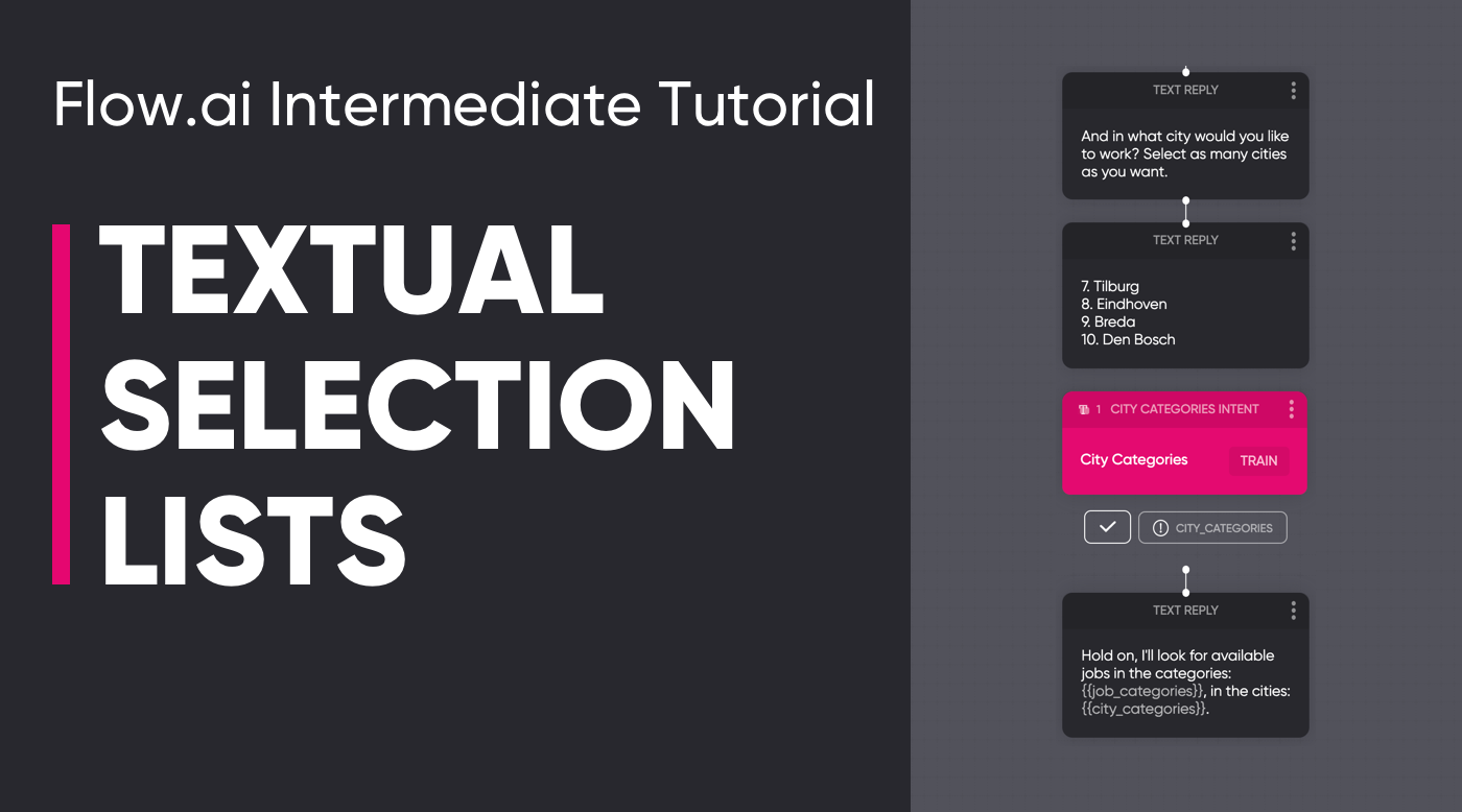 Textual Selection Lists Tutorial